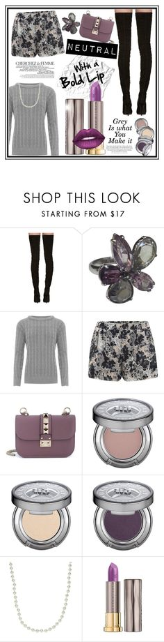 """""""Neutral*inGrey"""" by aralyn0111 ❤ liked on Polyvore featuring Balmain, Swarovski, WearAll, ONLY, Valentino, Urban Decay, La Femme and Givenchy"""
