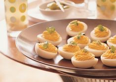 Classic party hors d'oeuvre: deviled eggs #madmen #60s
