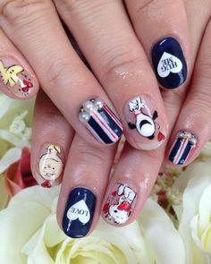 Super Cute Nails, Pretty Nails, Korea Nail Art, Anime Nails, Feet Nails, Disney Nails, Beautiful Nail Art, Nail Arts, Nails Inspiration