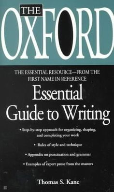 The Oxford Essential Guide to Writing (Essential Resource Library) by Thomas S. Writing A Book Review, Writing Advice, Writing Ideas, Fiction Writing, Writing Quotes, Writing Resources, Teaching Writing, Pulp Fiction, Writer Tips