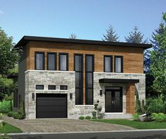 Modern House Plan with Lots of Storage - 80859PM | 2nd Floor Master Suite, Butler Walk-in Pantry, CAD Available, Canadian, Den-Office-Library-Study, In-Law Suite, Metric, Modern, Narrow Lot, PDF | Architectural Designs