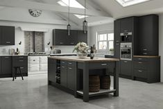 Vilo mock in frame style replacement kitchen doors finished in Serica Graphite