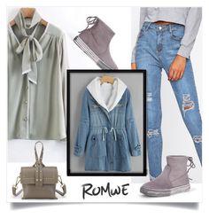 """Romwe 6/X"" by mirelaaljic ❤ liked on Polyvore"