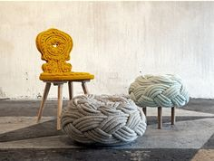 Claire Anne O'Brien knit stools