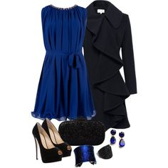 A fashion look from December 2012 featuring Ted Baker dresses, Helene Berman coats and Giuseppe Zanotti pumps. Browse and shop related looks.