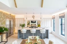 Traditional classic shaker in-frame with matching dresser cabinets #candckitchens #beautifulkitchens #kitchenislanddecor #kitchenislanddesign #kitcheninterior #interiorideas #luxurykitchendesign #homeideas #homestyle #stylishinteriors #openplanliving Kitchen Showroom, Kitchen Interior, Traditional British Kitchens, Kitchen Island Decor, Real Kitchen, Shaker Doors, Luxury Kitchen Design, Open Plan Living, Small Rooms