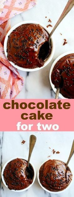 Mini chocolate cakes for two made in two ramekins. Cake baked in ramekins for two servings, the best chocolate dessert for two. Mini chocolate cakes for two made in two ramekins. Cake baked in ramekins for two servings, the best chocolate dessert for two. Mini Chocolate Cake, Best Chocolate Desserts, Mug Recipes, Cake Recipes, Dessert Recipes, Recipies, Mini Desserts, Baking Desserts, Cake Baking