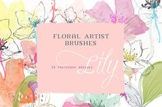 Floral Photoshop Brushes by CreateTheCut on @creativemarket