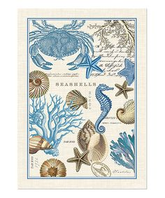 Take a look at these Seashore Kitchen Towels - Set of Three.  They're so pretty, you could frame them!