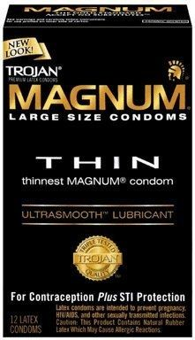 Trojan Condom Magnum Thin Lubricated 12Pc  Posted to the Stufflicious.com community storefront by @firstgoliveuser. Buy it directly from amazon.com for $22.99 today.Men's Style'licious #Men's Style'licious #Bags #Accessories #Mens #Apparel #Fashion #Style