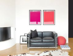 Vintage Letraset Pantone posters are a stylish and retro way to add a pop of color to any room. #EtsyDE