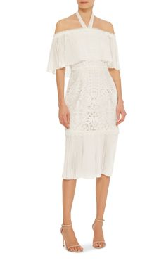 Berry Lace Off The Shoulder Dress by TEMPERLEY LONDON Now Available on Moda Operandi