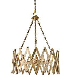 "Murray Feiss Hugo 22 1/4"" Wide 4-Light Bali Brass Pendant -"