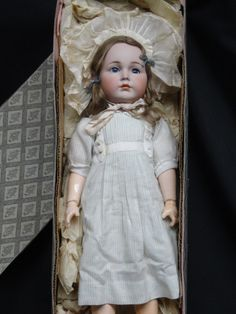 Stunning Antique KR 117 Character Doll Mein Liebling Bisque Doll Boxed Set | eBay