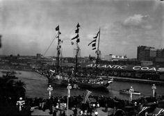 Gasparilla pirate ship on Hillsborough River : Tampa, Fla.  by Burgert Brothers.