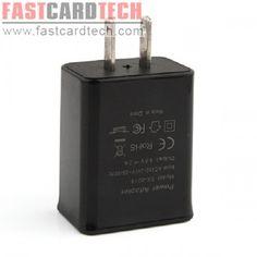 2A 10W Dual USB Power Adapter USA Plug Black