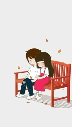 Cartoon Love Photo, Cute Couple Pictures Cartoon, Cute Couple Drawings, Cute Couple Art, Cute Couple Quotes, Anime Love Couple, Cute Anime Couples, Cute Drawings, Cute Love Wallpapers