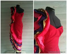 Hot Pink FIESTA Party Dress XS by runaroundsuevintage on Etsy, $58.00