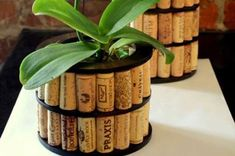 Creative ideas for recy Deco Noel Nature, Wine Making Supplies, Wine Kits, Recycled Garden Art, Make Your Own Wine, Wine Cork Crafts, Wine Bottle Holders, Vase, Plant Decor