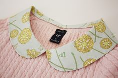 Great use for scraps...Sew Much Ado: How to add a Peter Pan Collar to Any Top