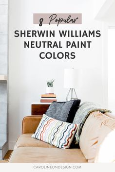 Dark paint may be the latest 'trend', but neutral walls in your home will ALWAYS be a timeless classic. If you're on the hunt for the perfect neutral, you'll find it below in my curated list of 8 popular Sherwin Williams neutral paint colors. #paint #neutralpaint Neutral Paint Colors, Paint Colors For Home, Neutral Walls, Declutter Your Mind, Floors And More, Green Living Tips, Dust Mites, Green Cleaning, Home Hacks