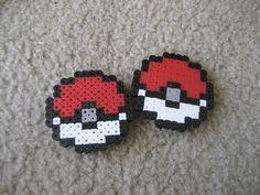 Pokeball Perler Bead Magnets on Etsy, $7.00