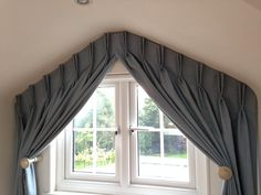 Beautifully shaped curtains by Changing Views Redbourn.