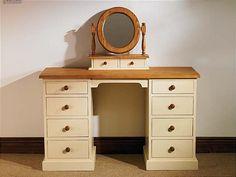 Mottisfont Painted Double Pedestal Desk / Dressing Table