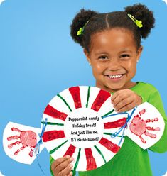 Peppermint Candy Handprint Plates from Lakeshore Learning: These fun-to-make handprint keepsakes will add holiday cheer to any room!