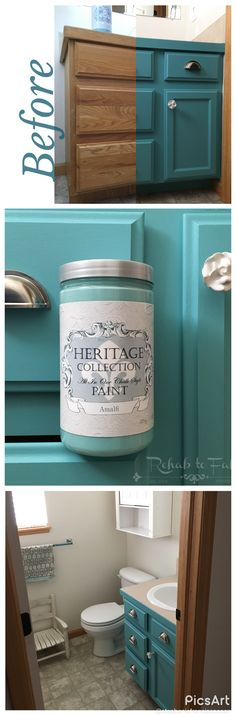 Heritage Collection All in One Chalk style paint. No priming no sealing! Done by Rehab to Fab.