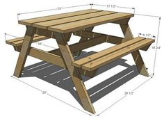 DIY Furniture Plan From Ana White.com Our Preschool Picnic Table Is One Of  The Most Popular Plans Available Online. Due To The Simple Design, Easy  Building ...