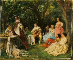 The Recital by Jean Louis Ernest Meissonier