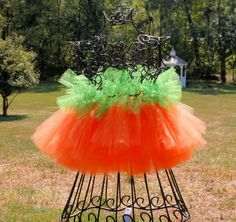 PUMPKIN Halloween Tutu Skirt for Girls, Babies Toddlers.  Makes a great photo prop.. $26.99, via Etsy.