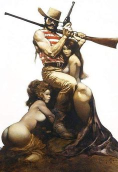 Frank Frazetta, The works of the late master fantasy artist, with News, Galleries, and Biography. Frank Frazetta, Image Comics, Dark Fantasy Art, Serpieri, Fabian Perez, Cowboy Art, Robert Mcginnis, Oil Painting Abstract, Oil Paintings