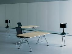 Contract Furniture - Open plan Nomos bench system by Tecno.