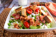 Seven-Layer Salad with Parmesan Ranch Dressing. #outofthekitchen