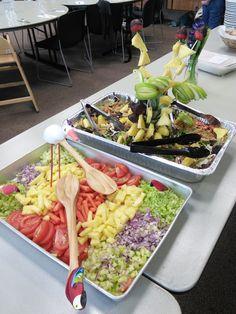 ブラジリアンのサラダ。カラフル~。3/30/2015