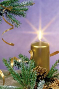 Golden Candle iPhone Wallpaper and iPod touch Wallpaper Christmas Candles, Gold Christmas, Christmas Movies, Christmas And New Year, 4 Wallpaper, Wallpaper Backgrounds, Gold Candles, Pillar Candles, Christmas Wallpaper