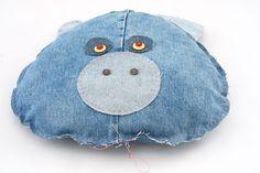 Almofada jeans de bichinho - Portal de Artesanato - O melhor site de artesanato com passo a passo gratuito