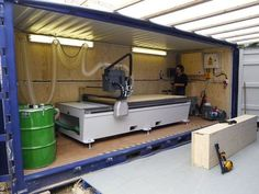 Fact homes CNC machine in a container - portable!