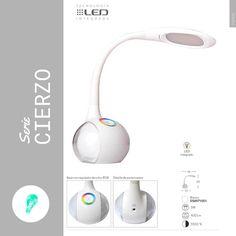 Flexo de estudio para sobremesa con tecnología LED y función RGB , para luces de colores ambientales.  #flexo #sobremesa #led #rgb #táctil #lamparas #ofertas
