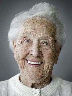100 years old  Such a lively, beautiful smile!