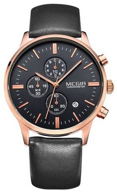 Product Description This sport men's chronograph watch can be an every males' watch to match any outfit. It features a classic design of 3 sub-dials on black dial with luminous hour/minute hands. whic