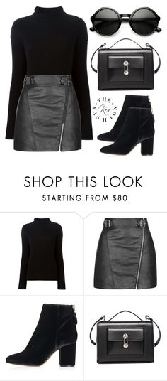 """""""Street style"""" by kortaylor ❤ liked on Polyvore featuring moda, Helmut Lang, Topshop, Balenciaga, StreetStyle, winterfashion, StreetChic y winter2015"""