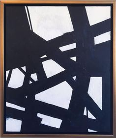 Black and White Abstract 2 | From a unique collection of abstract paintings at https://www.1stdibs.com/art/paintings/abstract-paintings/