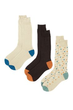 Cole Haan | Multi Dot Socks - Pack of 3 | Nordstrom Rack