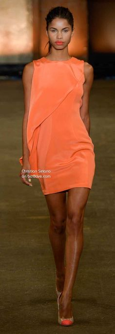 Christian Siriano Spring 2014--this would be fun over a sheath--maybe a separate one to take on and off?