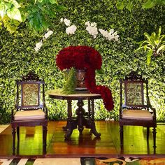 """Rangkaian Dekorasi Pernikahan Laras & Charda  Venue : Puri Agung Sahid Hotel Tema : Tradisional Jawa - Garden Pelaminan : Rumah Joglo Voyer : Vertical…"""