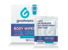 Goodwipes Hygiene Wipes for When You Can't Shower, Hypoallergenic, Really Big Body Wipes with Natural Tea Tree Oil and Cooling Peppermint, Stash-and-Dash Singles for Travel, Pack of 10 -- Visit the image link more details. (This is an affiliate link) Wash Your Face, Face And Body, Feminine Wipes, Tee Tree, Fitness Gifts, Fitness Gear, Wipe Away, Lavender Scent, Wet Wipe