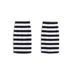 法式優雅寬條完美修身鉛筆裙 - FINAL SALE!!>>年終。慶_全館5折 | aLady